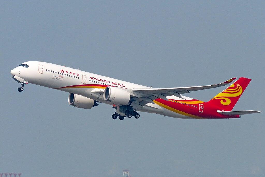 B LGC Airbus A350 900XWB Hong Kong Airlines at Hong Kong International Airport