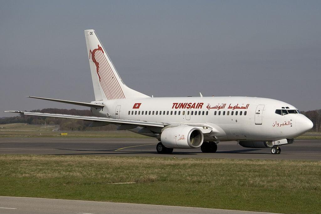 Boeing 737 6H3 Tunisair TS IOK Kairouan at Luxembourg Findel International Airport