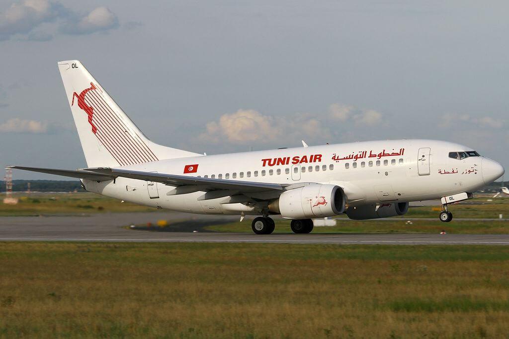 Boeing 737 6H3 Tunisair TS IOL Tozeur Nefta at Frankfurt Airport
