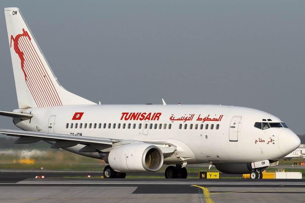 Boeing 737 6H3 Tunisair TS IOM Carthage at Frankfurt Airport