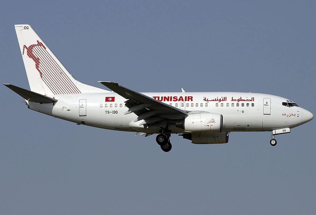 Boeing 737 6H3 Tunisair TS IOQ Bizerte at Fiumicino Airport