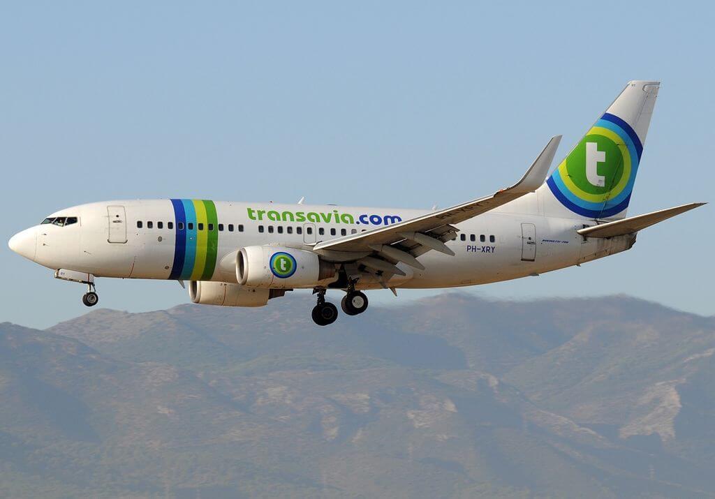 Boeing 737 7K2 Transavia Airlines PH XRY at Malaga Airport