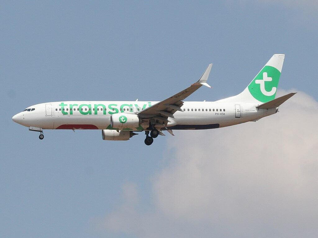 Boeing 737 800 Transavia Airlines PH HSK at Ben Gurion International Airport
