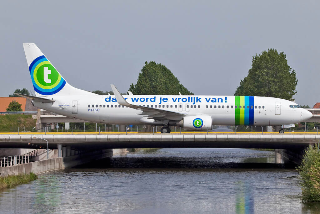 Boeing 737 8K2 Transavia Airlines PH HSC at Amsterdam Schiphol Airport