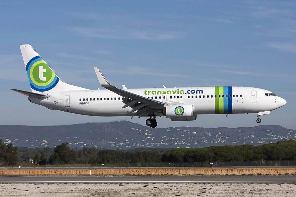 Boeing 737 8K2 Transavia Airlines PH HSF at Faro Airport