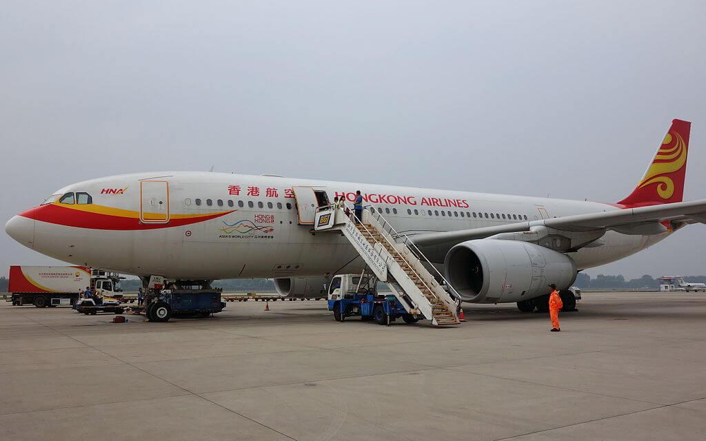 Hong Kong Airlines A330 243 B LNJ at Beijing Capital International Airport