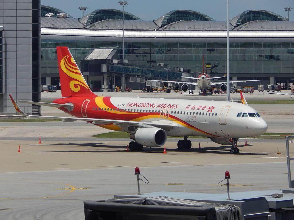 Hong Kong Airlines Airbus A320 200 B LPM at HKG