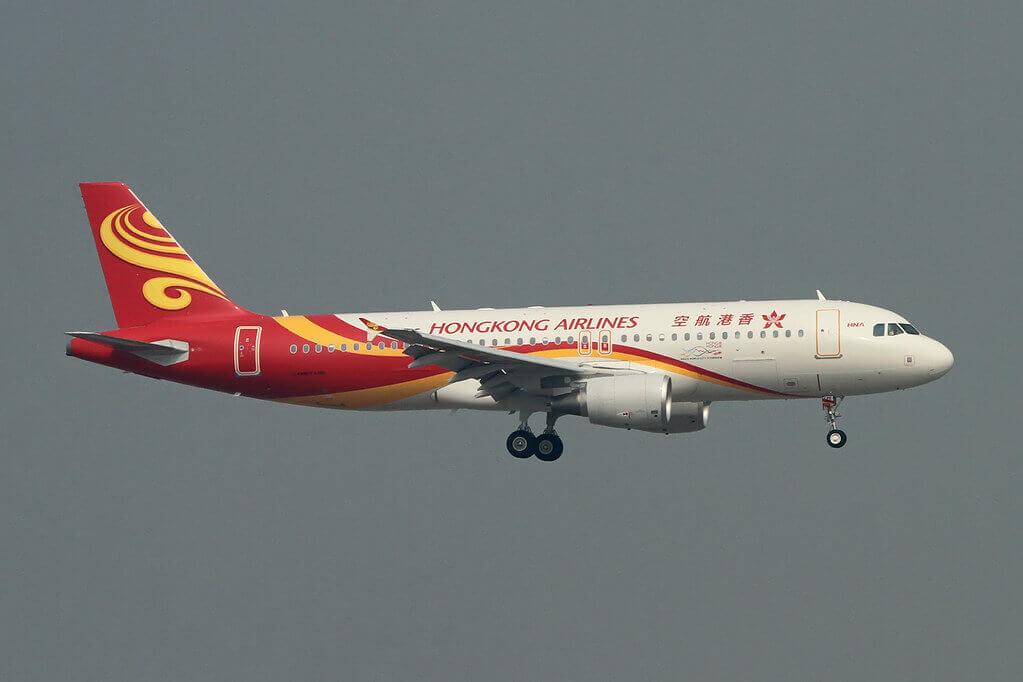 Hong Kong Airlines Airbus A320 214 B LPE at Chek Lap Kok Airport