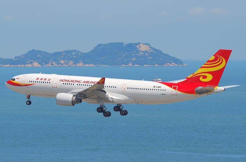 Hong Kong Airlines Airbus A330 200 B LNG at Hong Kong International Airport