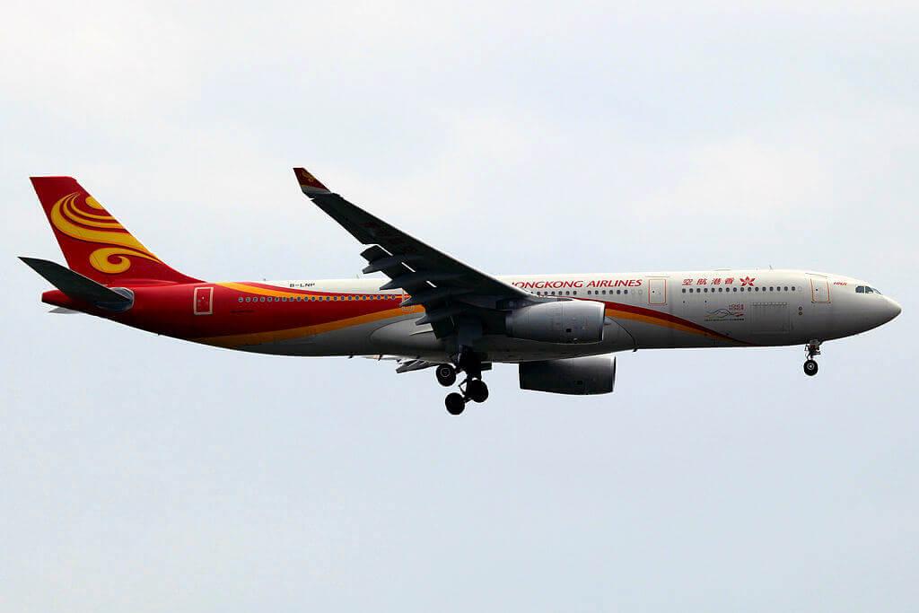Hong Kong Airlines Airbus A330 343X B LNP at Shanghai Pudong International Airport