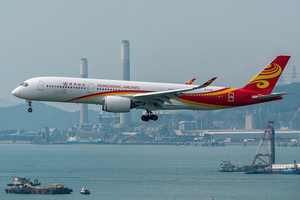 Hong Kong Airlines Airbus A350 900 B LGD at Hong Kong International Airport
