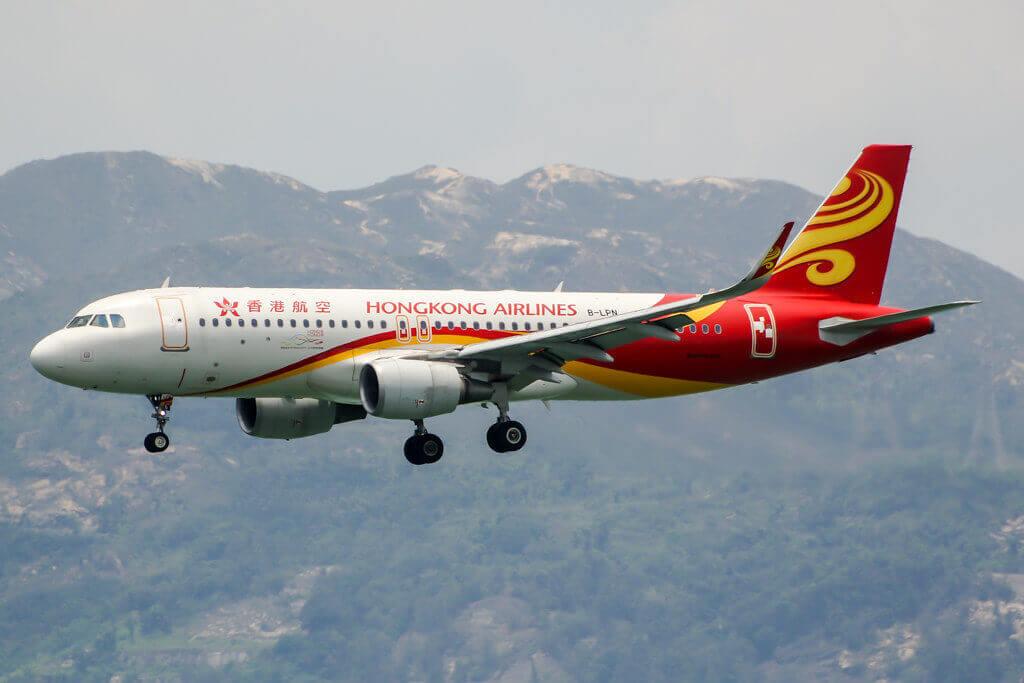 Hong Kong Airlines B LPN Airbus A320 200 at HKG Airport