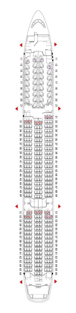 Seating Plan and Cabin Layout Hong Kong Airlines Airbus A350 900