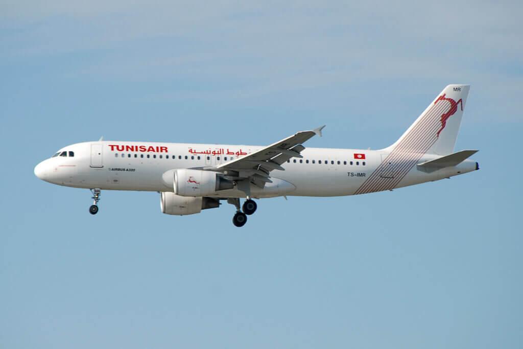 TS IMR Airbus A320 Tunisair Habib Bourguiba الحبيب بورقيبة at London Heathrow Airport