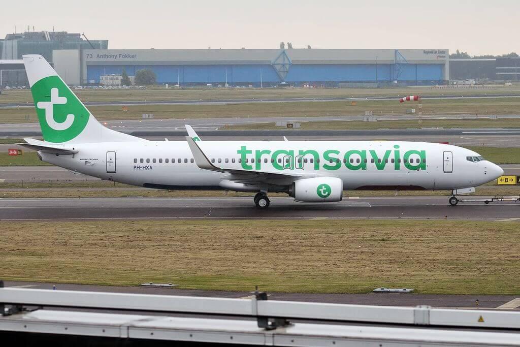 Transavia PH HXA Boeing 737 8K2 at Amsterdam Airport Schiphol
