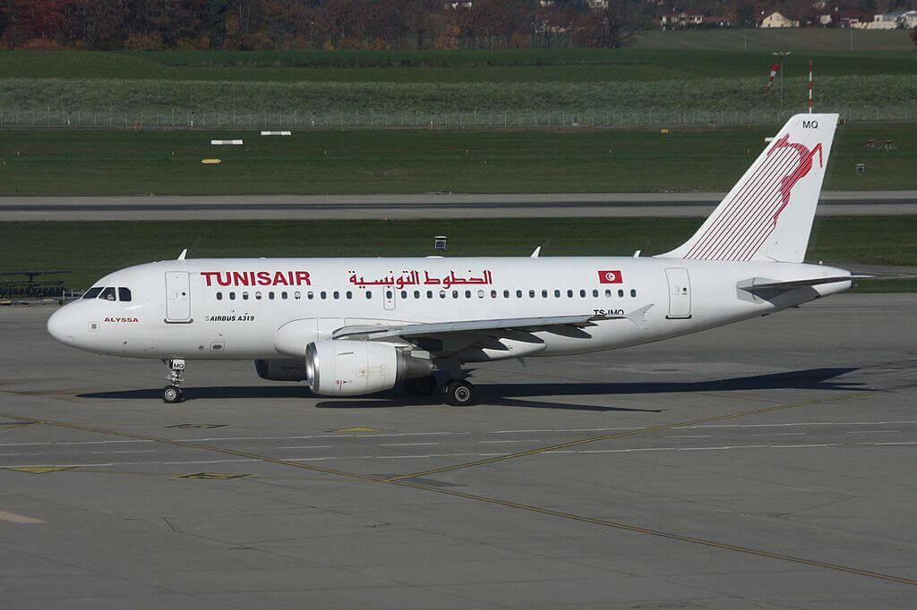 Tunisair Airbus A319 112 TS IMQ Alyssa عليسة at Geneva International Airport