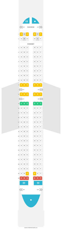 Seat Map and Seating Chart Air Serbia Airbus A320 200